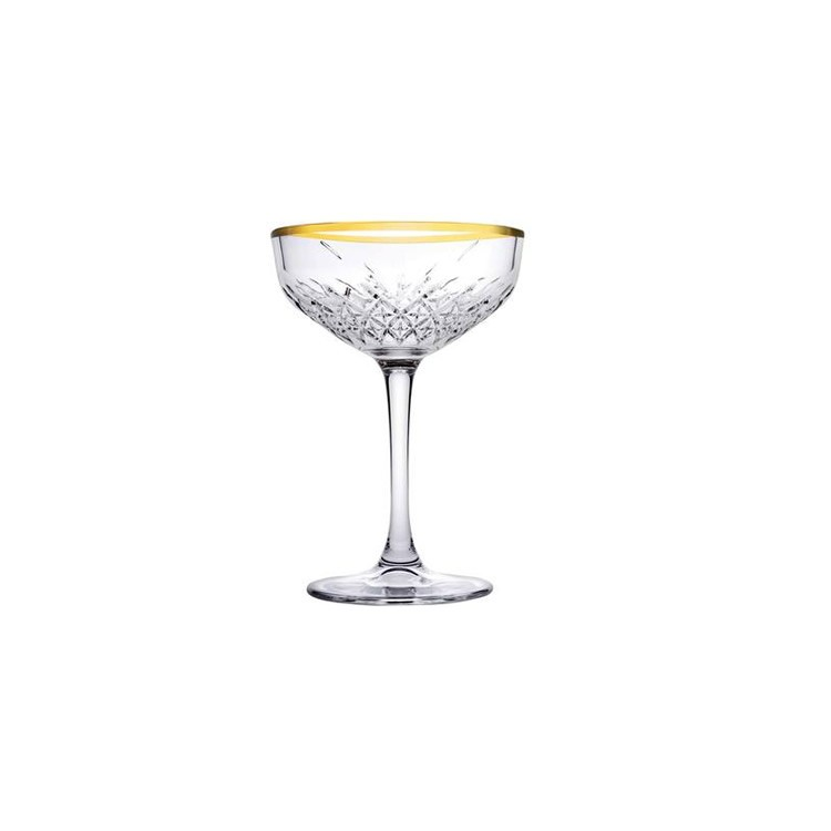 Pasabahce Timeless champagne coupe 27 cl GOUD DOOS 4