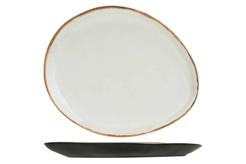 C & T melamine Plato bord ovaal 19,5 x 16,5 cm