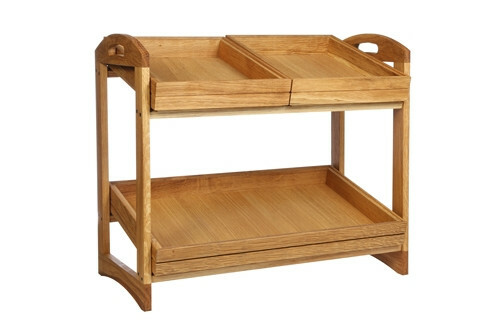 Oak linoil 2 level stand large - excl. trays 56,6 x 29,5 x 49,5(h) cm