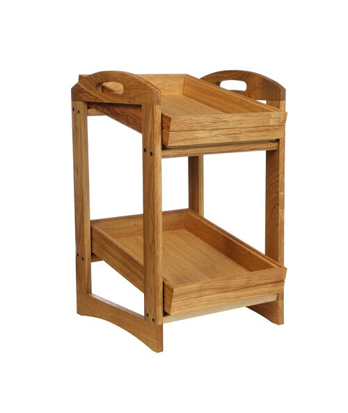Oak linoil 2 level stand small - excl. trays 29 x 43 x 57,4(h) cm