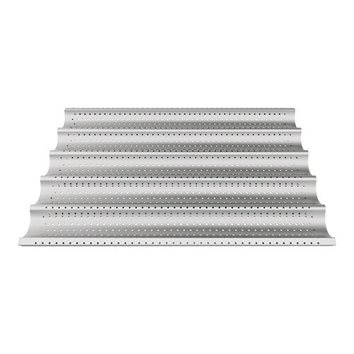 stokbroodrooster aluminium 60 x 40 cm geperforeerd