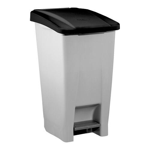 afvalbak container * verrijdbaar 80 Ltr zwart deksel