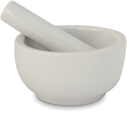 vijzel porselein wit Ø 6 cm