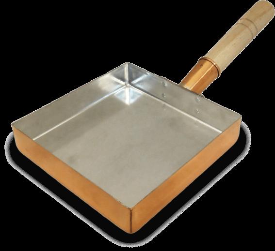 tamago-eierpan koper 18 x 18 cm