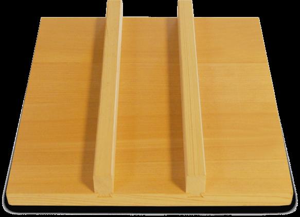 deksel voor tamago pan hout 18 x 18 cm