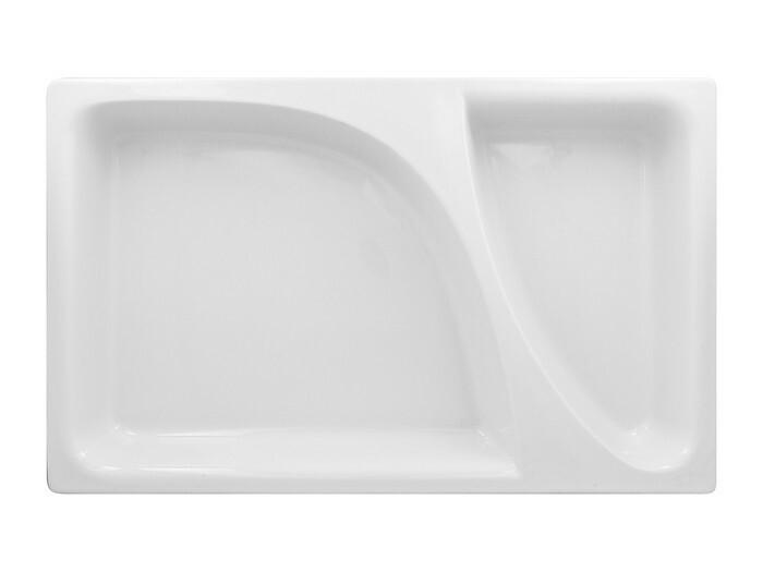 RAK Buffet Zamma 1/1 GN gastronormschaal 2 vaks 53 x 32,5 x 6,5(h) cm
