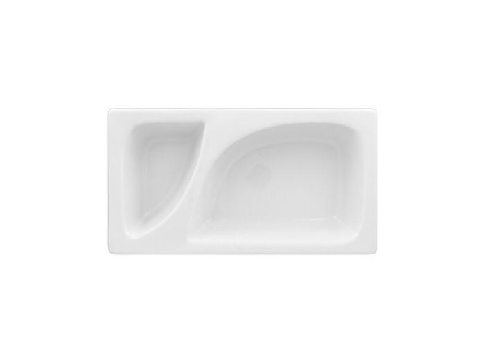 RAK Buffet Zamma 1/3 GN gastronormschaal 2 vaks 32,5 x 17,6 x 6,5(h) cm