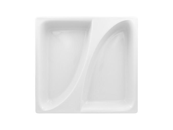RAK Buffet Zamma 1/3 GN gastronormschaal 2 vaks 35,4 x 32,5 x 6,5(h) cm
