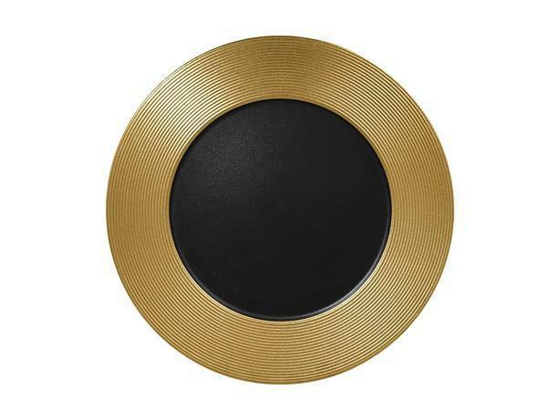 RAK Metalfusion bord plat met relief goud 33 cm
