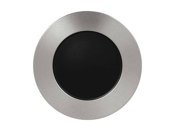 RAK Metalfusion bord plat met relief zilver 33 cm