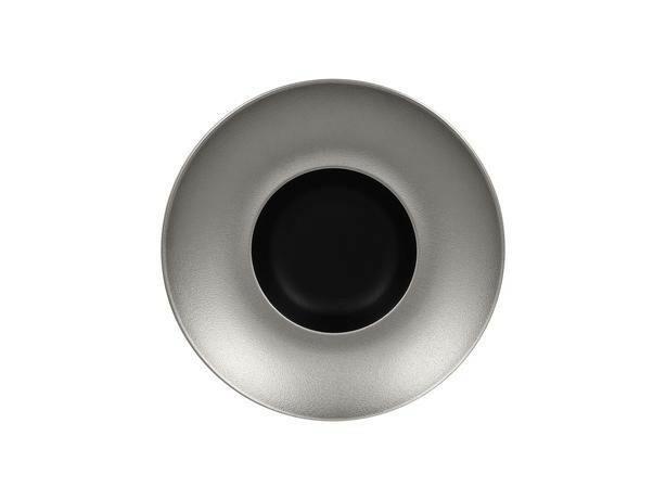 RAK Metalfusion gourmet bord diep zilver 26 cm