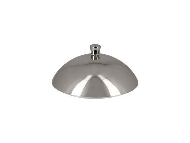 RAK Metalfusion cloche voor gourmet bord diep zilver 26 cm