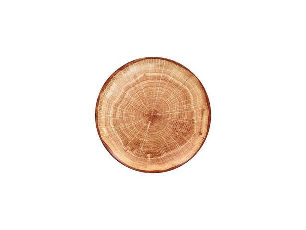 RAK Woodart Timber Brown coupe bord 21 cm