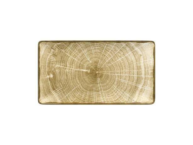 RAK Woodart Moss green bord rechthoek 33,5 x 18 cm