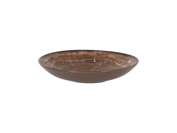 RAK Woodart Oak Brown coupe bord diep 26 cm
