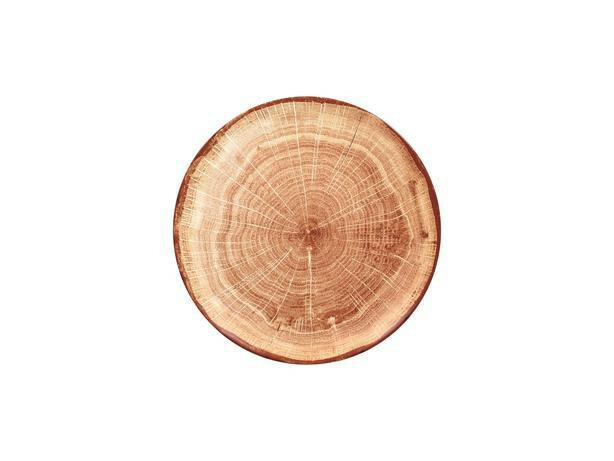 RAK Woodart Timber Brown coupe bord 24 cm