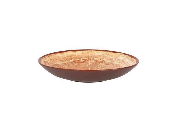 RAK Woodart Timber Brown coupe bord diep 23 cm