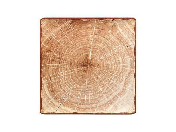 RAK Woodart Timber Brown bord vierkant 30 cm