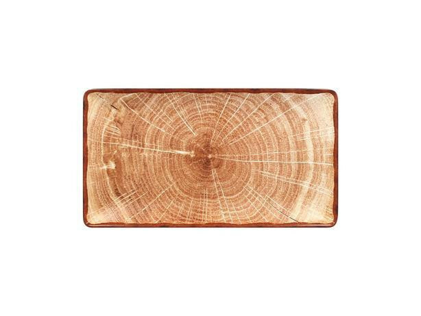 RAK Woodart Timber Brown bord rechthoek 33,5 x 18 cm
