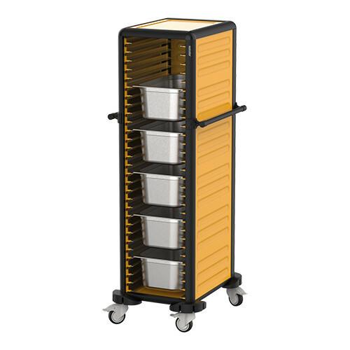 voedseltransportwagen 1/1 GN * 3 zijden gesloten uitvoering 78 x 57 x 174(h) cm