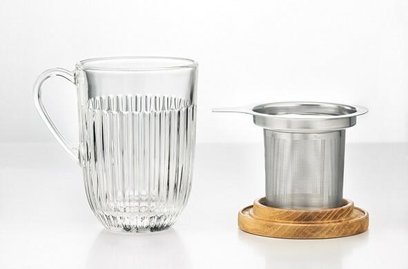 La Rochere Bistrot Ouessant koffieglas 40 cl inc. filter en deksel
