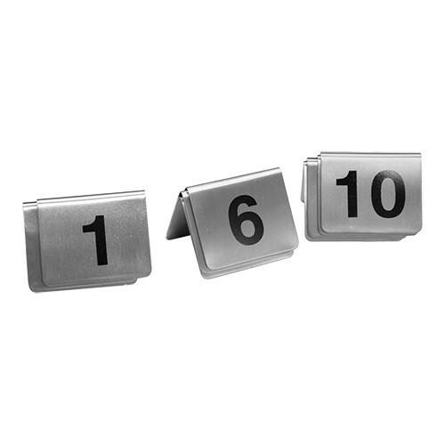 tafelnummers RVS 1 - 10 5,5 x 3,5(h) cm DOOS 10