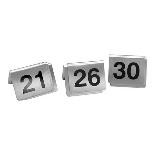 tafelnummers RVS 21 - 30 5,5 x 3,5(h) cm DOOS 10