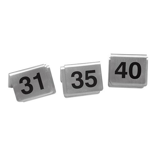 tafelnummers RVS 31 - 40 5,5 x 3,5(h) cm DOOS 10