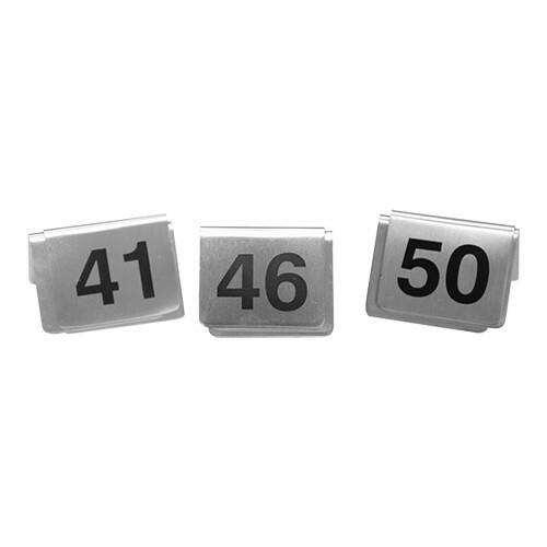 tafelnummers RVS 41 - 50 5,5 x 3,5(h) cm DOOS 10