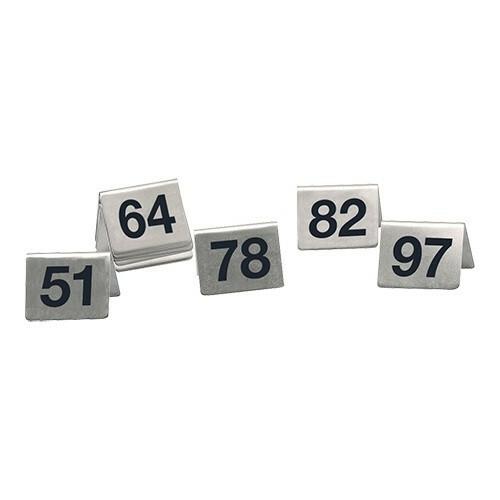 tafelnummers RVS 51 - 100 5,2 x 4,5 x 5,2(h) cm DOOS 50