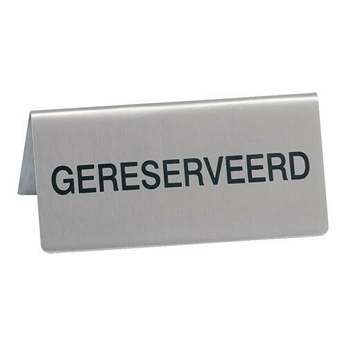 tafelbordje  RVS GERESERVEERD 10 x 4,5(h) cm