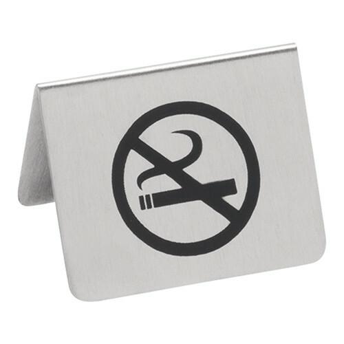 tafelbordje RVS no smoking 5 x 4,5(h) cm