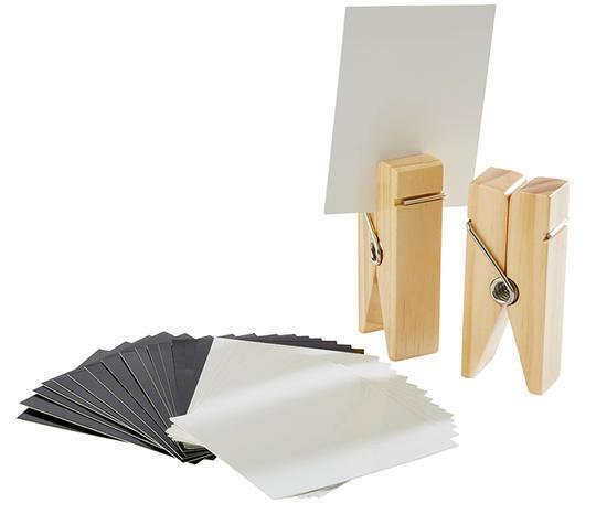 kaarthouder hout naturel 4 x 2,5 x 10(h) cm DOOS 2