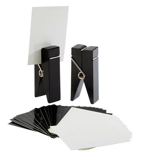 kaarthouder hout zwart 4 x 2,5 x 10(h) cm DOOS 2