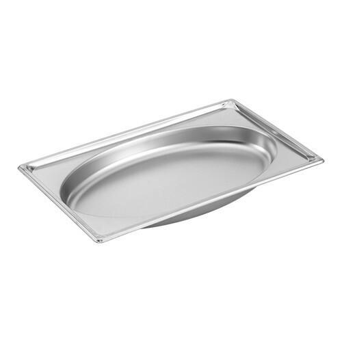 gastronormbak RVS GN 1/1 diep 10 cm Oval Shape