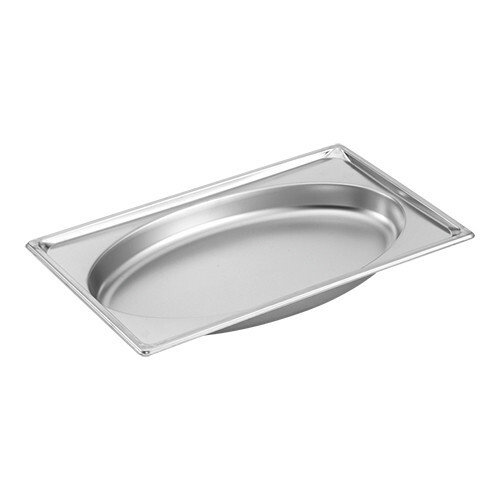gastronormbak RVS GN 1/1 diep 5,1 cm Oval Shape