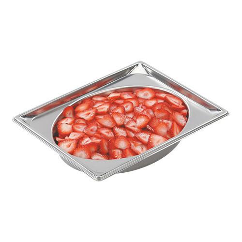 gastronormbak RVS GN 1/2 diep 6,5 cm Oval Shape