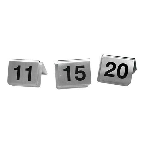 tafelnummers RVS 11 - 20 5,5 x 3,5(h) cm DOOS 10