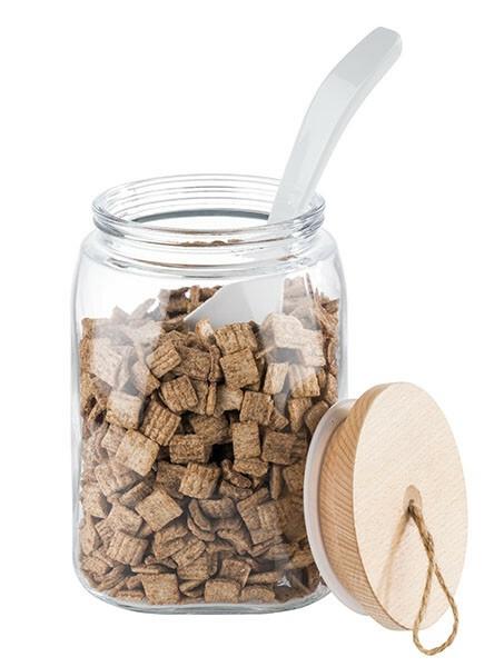 APS voorraadpot glas met houten deksel Ø 14 x 21,5(h) cm 2,5 Ltr