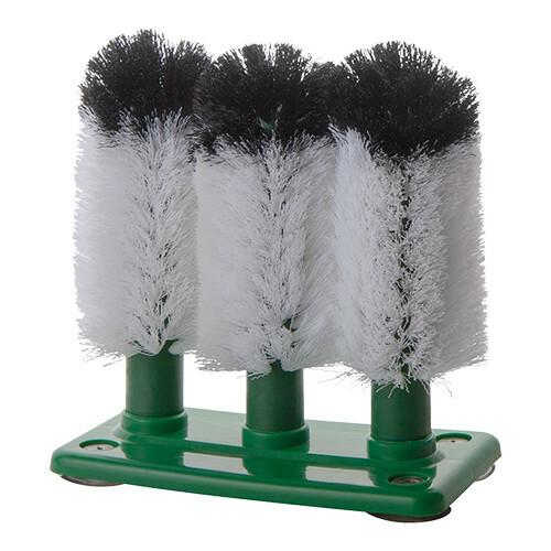glazenspoelborstels 3 fijnharige nylon borstels 18 cm hoog