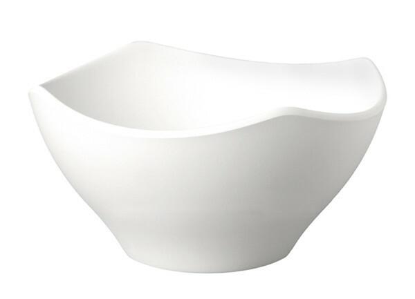 APS melamine ZEN scalloped bowl 21 cm WIT