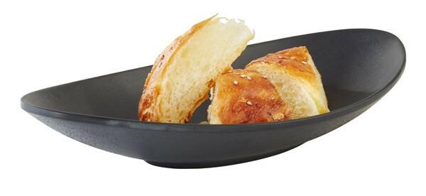 APS melamine ZEN bowl ovaal 25 x 13,5 cm ZWART
