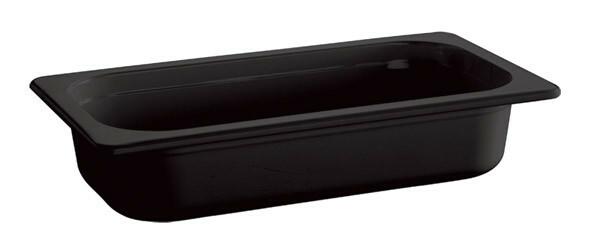 gastronormbak melamine 1/4GN diep 65 mm zwart