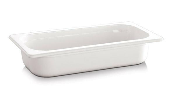 gastronormbak melamine 1/3 GN diep 65 mm wit