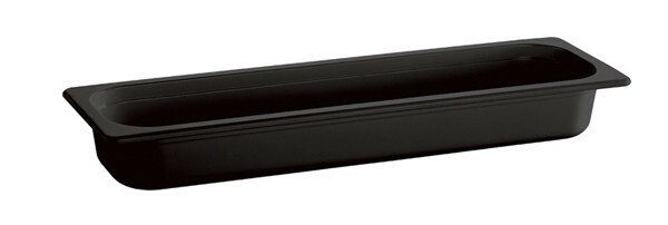 gastronormbak melamine 2/4 GN diep 65 mm zwart