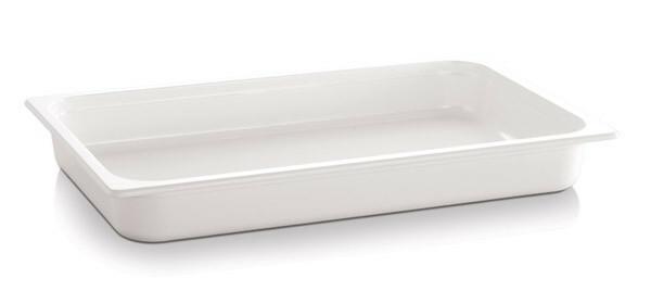 gastronormbak melamine 1/2 GN diep 65 mm wit