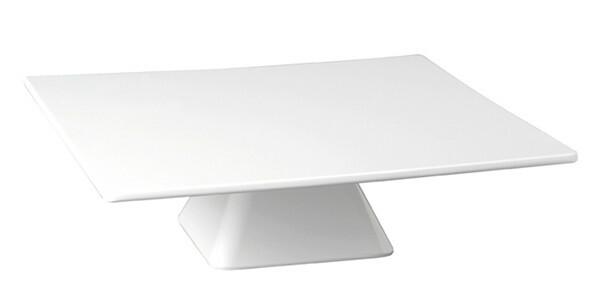 taart plateau melamine vierkant 31 x 31 cm