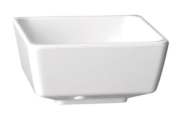APS melamine FLOAT bowl vierkant 9 cm WIT