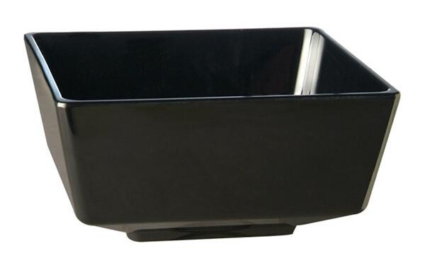 APS melamine FLOAT bowl vierkant 12,5 cm ZWART