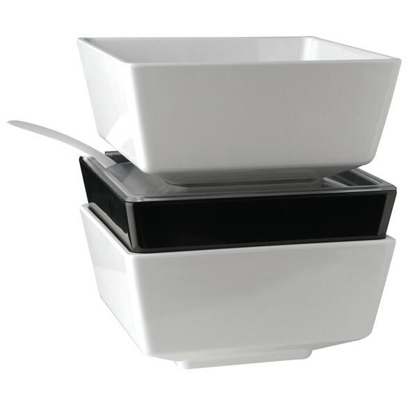 APS melamine FLOAT bowl vierkant 19,5 cm WIT